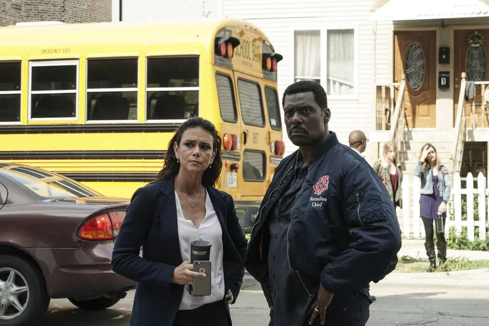 """CHICAGO FIRE -- """"Ignite on Contact"""" -- Episode 602 -- Pictured: (l-r) Melissa Ponzio as Donna Boden, Eammon Walker as Wallace Boden -- (Photo by: Elizabeth Morris/NBC)"""