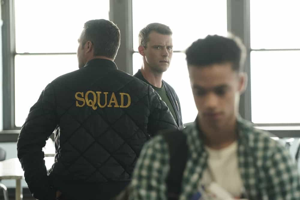 """CHICAGO FIRE -- """"Ignite on Contact"""" -- Episode 602 -- Pictured: (l-r) Taylor Kinney as Kelly Severide, Jesse Spencer as Matthew Casey, Marquis Rodriguez as Rashidi -- (Photo by: Elizabeth Morris/NBC)"""