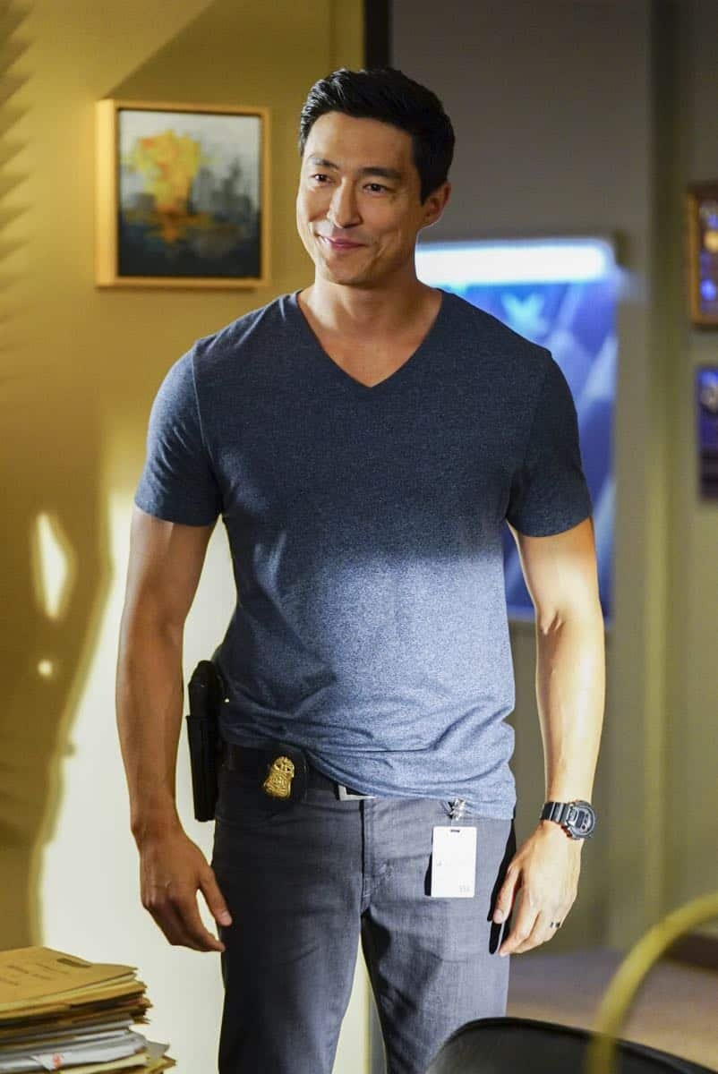 """""""To A Better Place"""" -- The BAU investigates three similar crimes in which victims' remains are discovered in old suitcases, on CRIMINAL MINDS, Wednesday, Oct. 4 (10:00-11:00 PM, ET/PT) on the CBS Television Network.  Pictured: Daniel Henney (Matt Simmons)   Photo: Sonja Flemming/CBS ©2017 CBS Broadcasting, Inc. All Rights Reserved"""