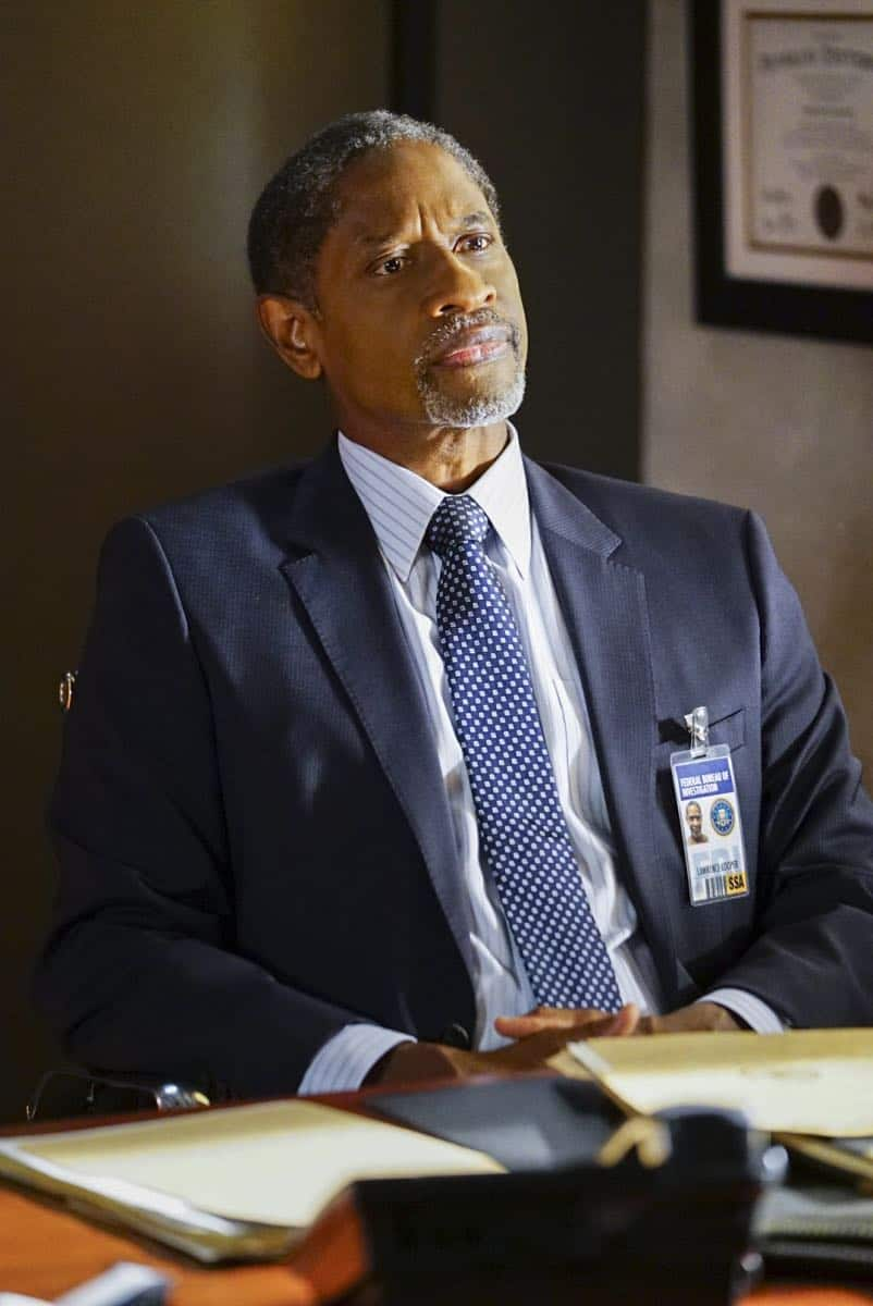 """""""To A Better Place"""" -- The BAU investigates three similar crimes in which victims' remains are discovered in old suitcases, on CRIMINAL MINDS, Wednesday, Oct. 4 (10:00-11:00 PM, ET/PT) on the CBS Television Network.  Pictured: Tim Russ (Agent Lawrence)   Photo: Sonja Flemming/CBS ©2017 CBS Broadcasting, Inc. All Rights Reserved"""