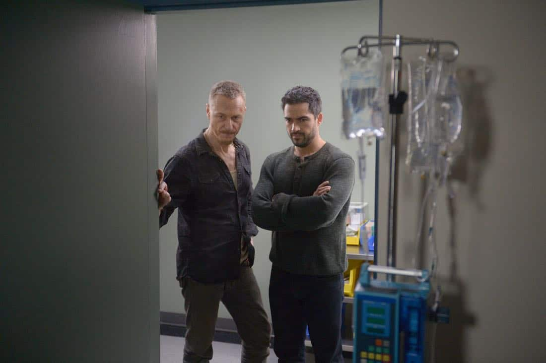 "THE EXORCIST: L-R: Ben Daniels and Alfonso Herrera in the ""Safe as Houses"" episode of THE EXORCIST airing Friday, Oct. 5 (9:01-10:00 PM ET/PT) on FOX. ©2017 Fox Broadcasting Co. Cr: Sergei Bachlakov/FOX"