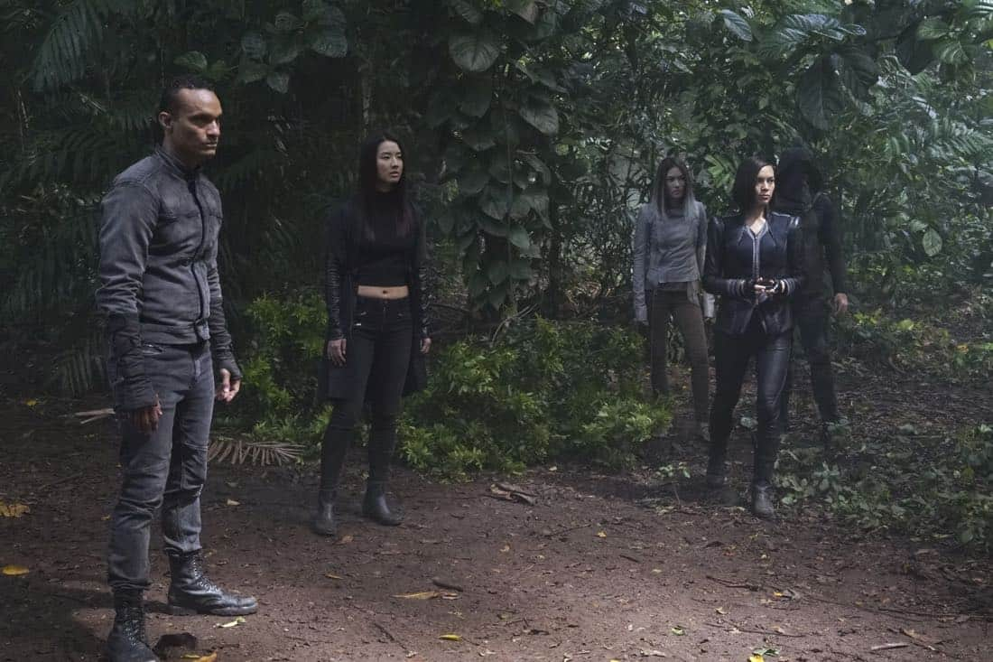 """MARVEL'S INHUMANS - """"Divide and Conquer"""" - After fleeing their home, The Inhumans desperately search for each other in the wake of Maximus' coup. Now they must learn who they can trust on Earth, on an all-new episode of """"Marvel's Inhumans,"""" airing on FRIDAY, OCTOBER 6 (9:01-10:01 p.m. EDT), on The ABC Television Network. (ABC/Karen Neal) JASON QUINN, SUMIRE MATSUBARA, SONYA BALMORES"""