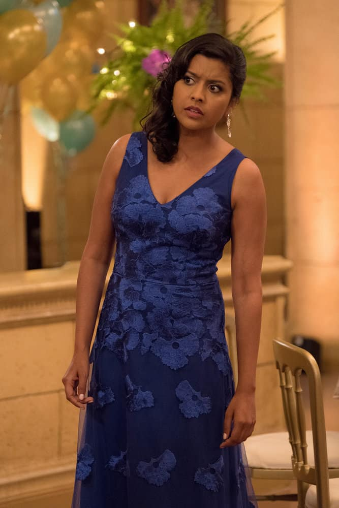 "THE GOOD PLACE -- ""Existential Crisis"" Episode 205 -- Pictured: Tiya Sircar as Vicky -- (Photo by: Colleen Hayes/NBC)"