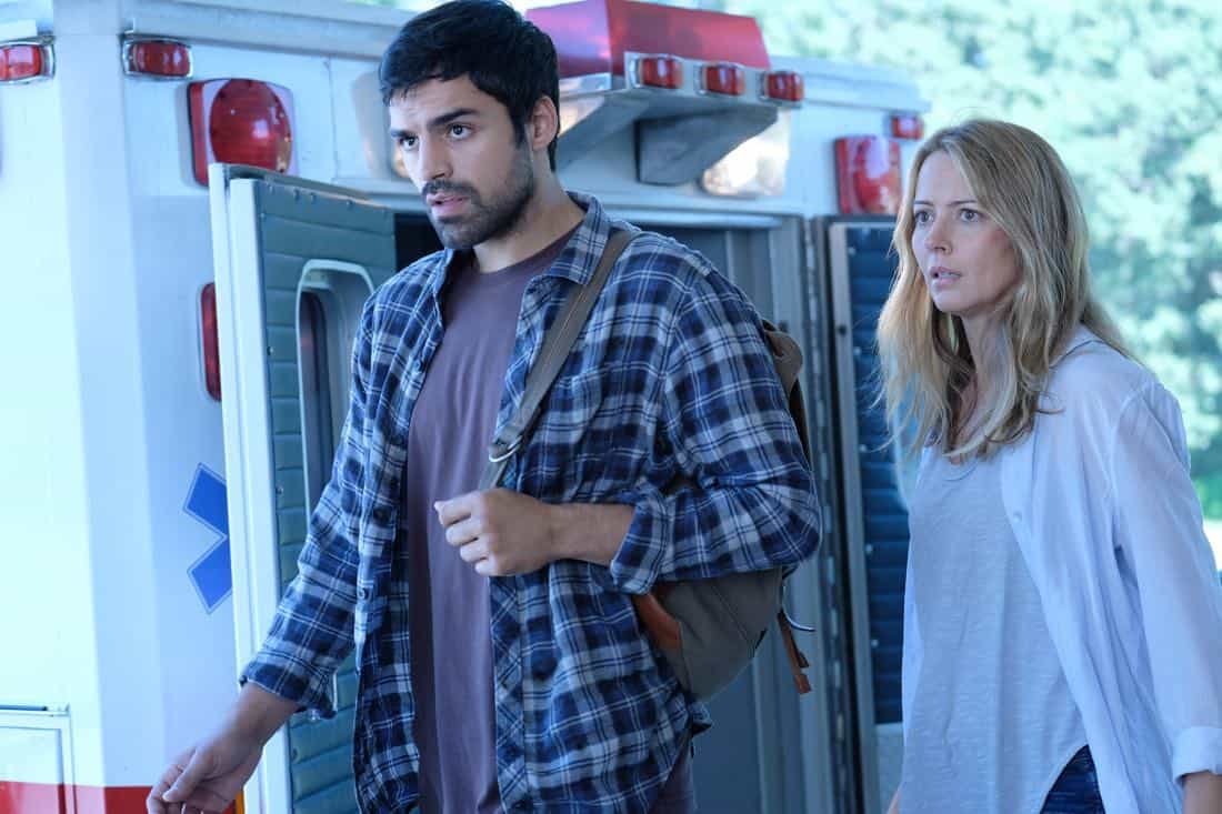 "THE GIFTED: L-R: Sean Teale and Amy Acker in the ""A New World"" episode of THE GIFTED airing Monday, Oct. 9 (9:00-10:00 PM ET/PT) on FOX. ©2017 Fox Broadcasting Co. Cr: Eliza Morse/FOX"