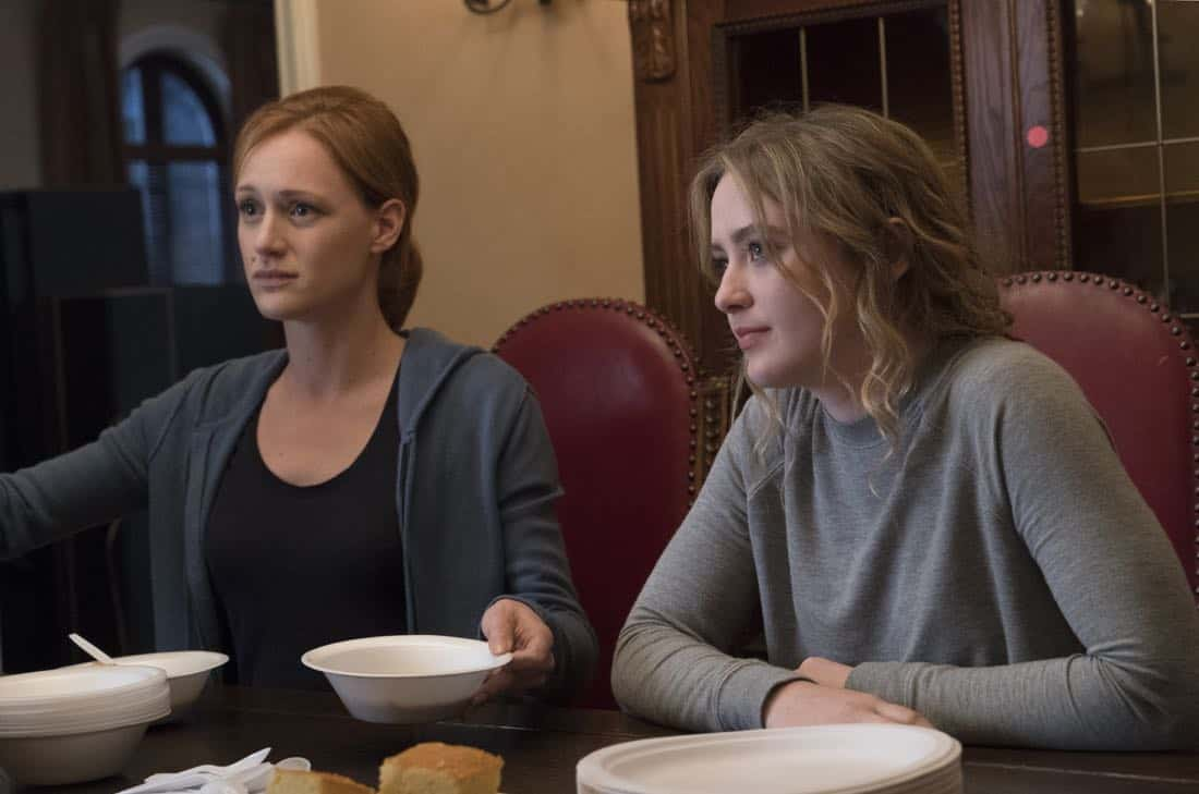 Kerry Bishe as Donna Emerson, Kathryn Newton as Joanie Clark - Halt and Catch Fire _ Season 4, Episode 8 - Photo Credit: Tina Rowden/AMC