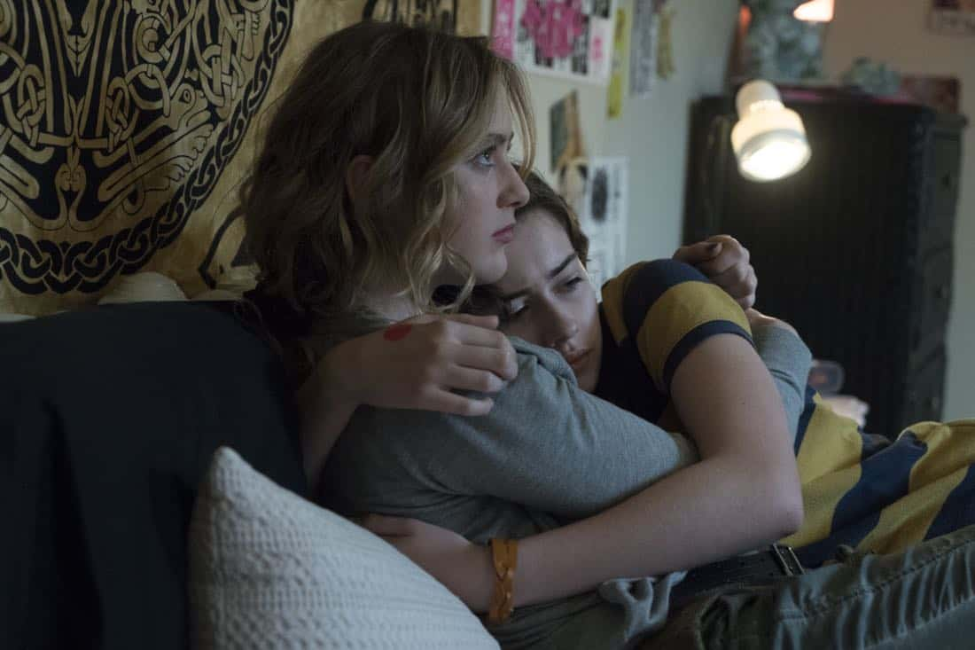 Kathryn Newton as Joanie Clark, Susanna Skaggs as Haley Clark - Halt and Catch Fire _ Season 4, Episode 8 - Photo Credit: Tina Rowden/AMC