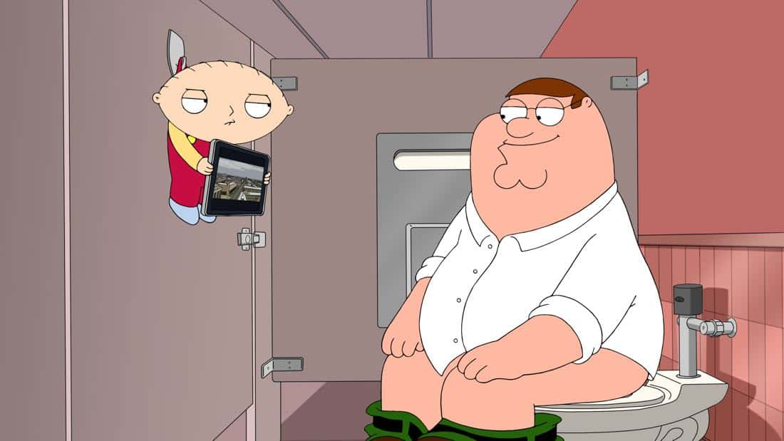 "FAMILY GUY: Peter becomes friends with a cool, handsome paramedic named Stryker Foxx in the ""Foxx In The Men House"" episode of FAMILY GUY airing Sunday, Oct. 8 (9:00-9:30 PM ET/PT) on FOX. FAMILY GUY ™ and © 2017 TCFFC ALL RIGHTS RESERVED. CR: FOX"