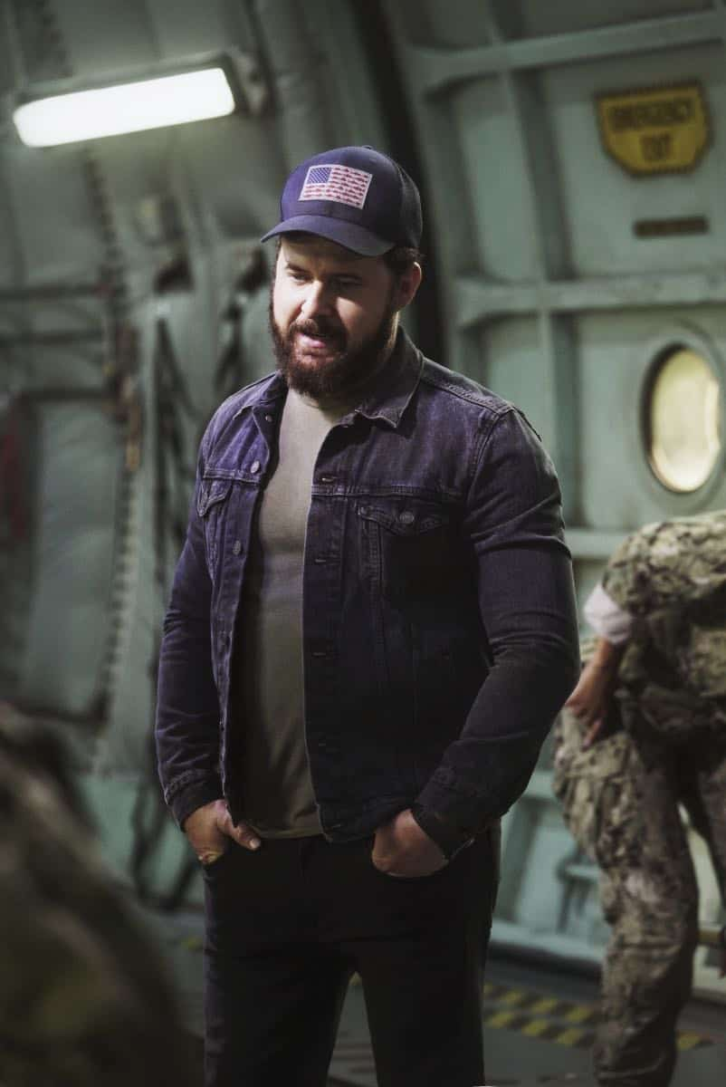 """""""Boarding Party"""" -- Jason and the SEAL team must rescue a group of researchers being held hostage on a ship in the South China Sea. Also, Clay is ranked in the """"bottom five"""" of his class, jeopardizing his future as a SEAL, on SEAL TEAM, Wednesday, Oct. 11 (9:00-10:00 PM, ET/PT) on the CBS Television Network. Pictured: AJ Buckley as Sonny Quinn. Photo: Monty Brinton/CBS ©2017 CBS Broadcasting, Inc. All Rights Reserved"""