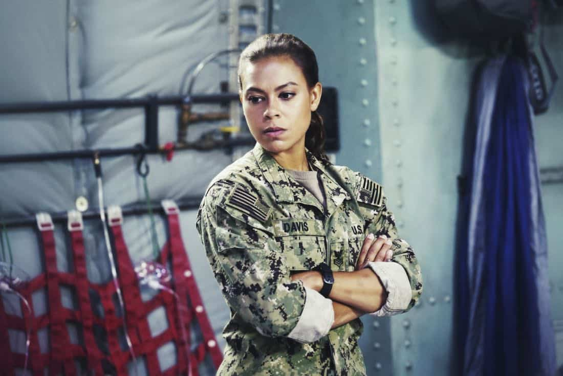 """""""Boarding Party"""" -- Jason and the SEAL team must rescue a group of researchers being held hostage on a ship in the South China Sea. Also, Clay is ranked in the """"bottom five"""" of his class, jeopardizing his future as a SEAL, on SEAL TEAM, Wednesday, Oct. 11 (9:00-10:00 PM, ET/PT) on the CBS Television Network. Pictured: Toni Trucks as Lisa Davis. Photo: Monty Brinton/CBS ©2017 CBS Broadcasting, Inc. All Rights Reserved"""