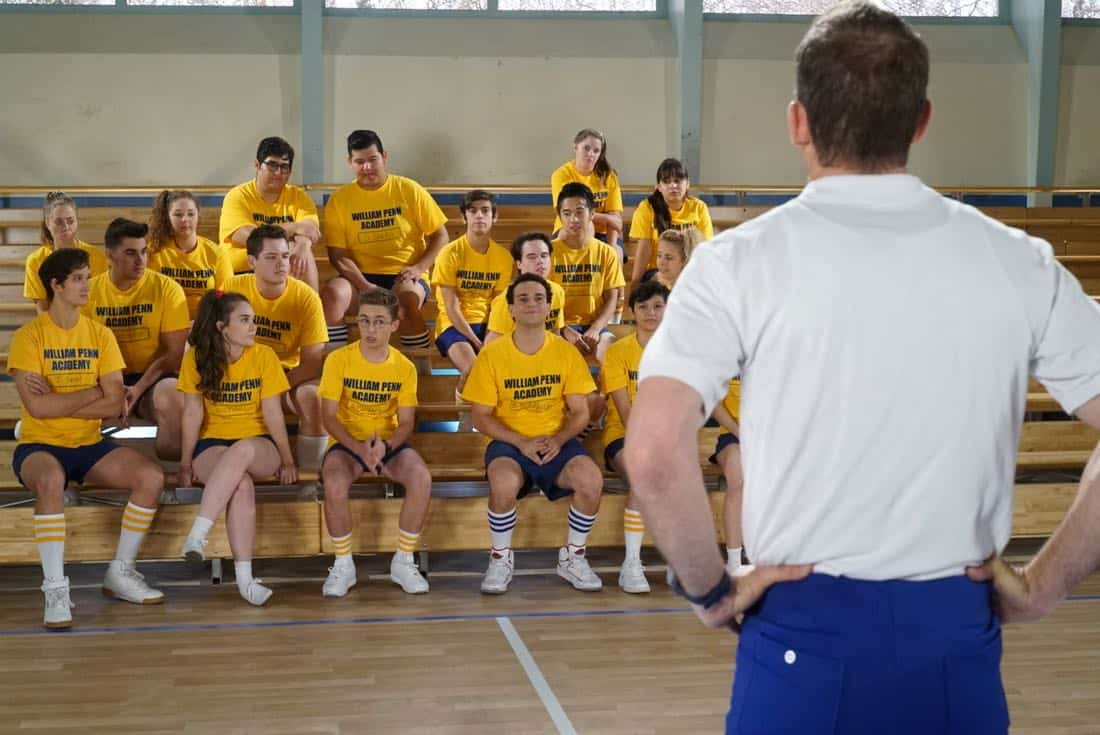 "THE GOLDBERGS- ""Goldberg On The Goldbergs"" - Beverly confronts Coach Mellor who reveals his strained relationship with his own brother Coach Nick, so she intervenes prompting Nick to face off with Rick. Adam and Barry join in, each one siding with one of the coaches. After a fight breaks out, Beverly points out to Adam and Barry this could be them as adults. Meanwhile, Geoff and Erica struggle with their relationship long distance, on ""The Goldbergs,"" WEDNESDAY, OCTOBER 11 (8:00-8:30 p.m. EDT), on The ABC Television Network. (ABC/Ron Tom) SEAN GIAMBRONE, TROY GENTILE"