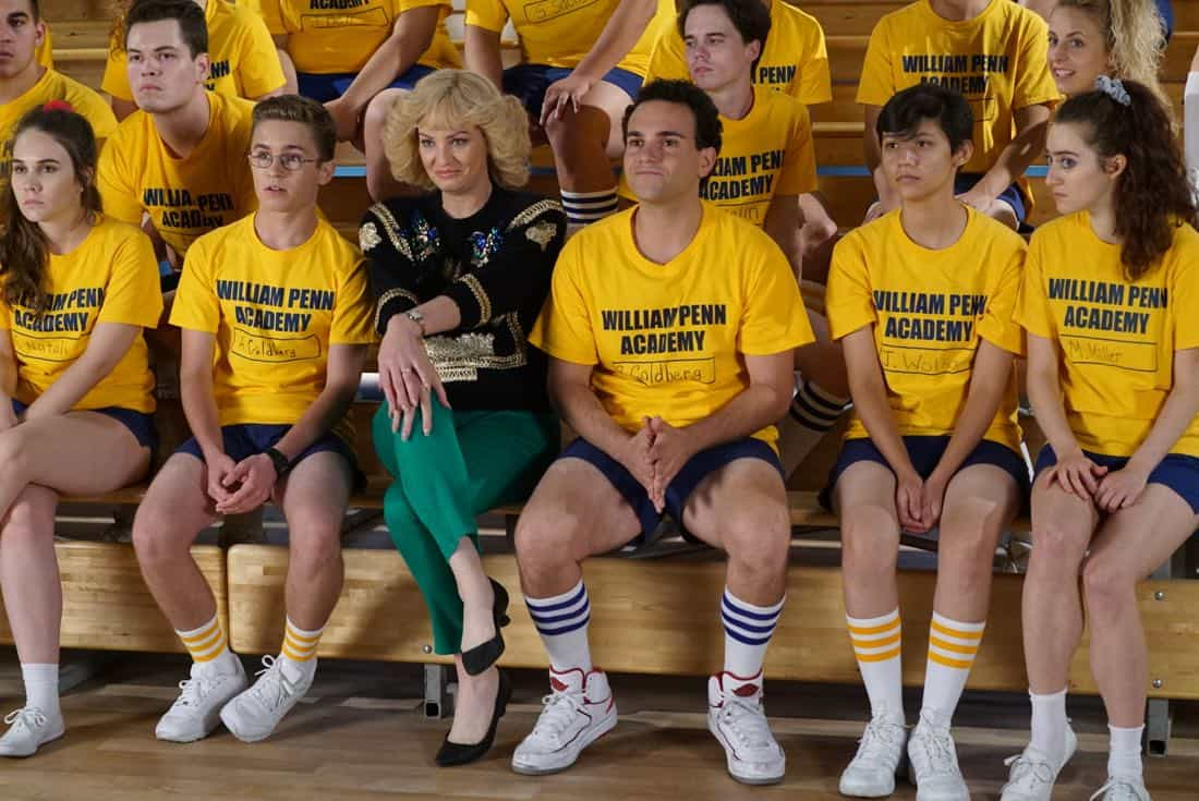 "THE GOLDBERGS- ""Goldberg On The Goldbergs"" - Beverly confronts Coach Mellor who reveals his strained relationship with his own brother Coach Nick, so she intervenes prompting Nick to face off with Rick. Adam and Barry join in, each one siding with one of the coaches. After a fight breaks out, Beverly points out to Adam and Barry this could be them as adults. Meanwhile, Geoff and Erica struggle with their relationship long distance, on ""The Goldbergs,"" WEDNESDAY, OCTOBER 11 (8:00-8:30 p.m. EDT), on The ABC Television Network. (ABC/Ron Tom) SEAN GIAMBRONE, WENDI MCLENDON-COVEY, TROY GENTILE"