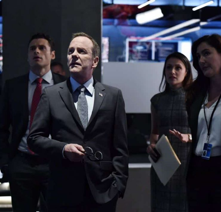 "DESIGNATED SURVIVOR- ""Outbreak"" – President Kirkman is faced with a viral pandemic that threatens to kill countless Americans while FBI Agent Hannah Wells and M16 Agent Damian Rennett discover evidence that could change the lives of members of the first family forever, on ""Designated Survivor,"" airing WEDNESDAY, OCTOBER 11 (10:00-11:00 p.m. EDT). (ABC/Ben Mark Holzberg) ADAN CANTO, KIEFER SUTHERLAND, ITALIA RICCI, ALICIA COPPOLA"