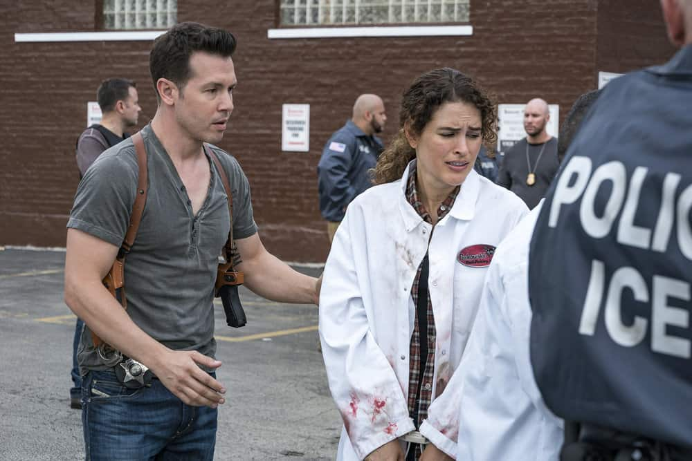 "CHICAGO P.D. -- ""Promise"" Episode 503 -- Pictured: (l-r) Jon Seda as Antonio Dawson, Susana Victoria Perez as Lucia -- (Photo by: Matt Dinerstein/NBC)"