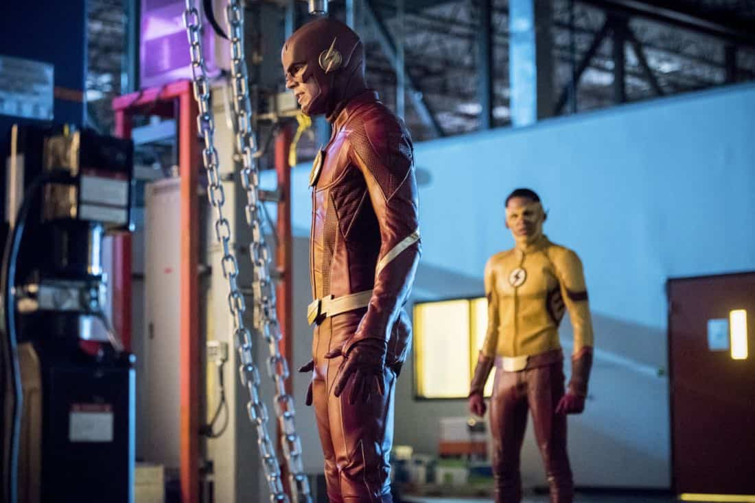 "The Flash -- ""Mixed Signals"" -- Image Number: FLA402b_0134b.jpg -- Pictured (L-R): Grant Gustin as The Flash and Keiynan Lonsdale as Kid Flash -- Photo: Dean Buscher/The CW -- © 2017 The CW Network, LLC. All rights reserved."