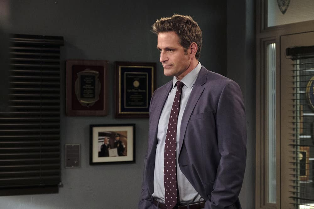 """LAW & ORDER: SPECIAL VICTIMS UNIT -- """"Contrapasso"""" Episode 1903 -- Pictured: Peter Hermann as Trevor Langan -- (Photo by Christopher Saunders/NBC)"""