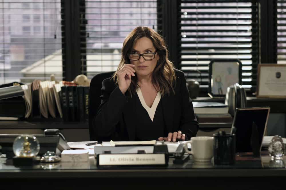 """LAW & ORDER: SPECIAL VICTIMS UNIT -- """"Contrapasso"""" Episode 1903 -- Pictured: Mariska Hargitay as Lieutenant Olivia Benson -- (Photo by Christopher Saunders/NBC)"""