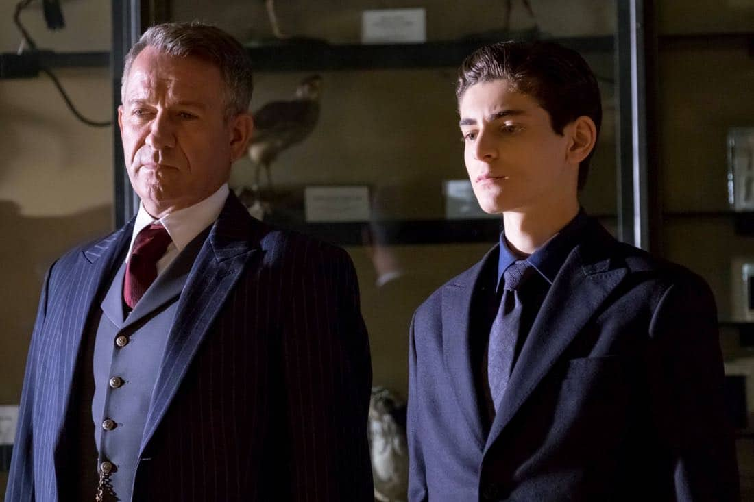"GOTHAM: L-R: Sean Pertwee and David Mazouz in the ""A Dark Knight: The Demon's Head"" episode of GOTHAM airing Thursday, Oct. 12 (8:00-9:01 PM ET/PT) on FOX.  Jeff Neumann/FOX"