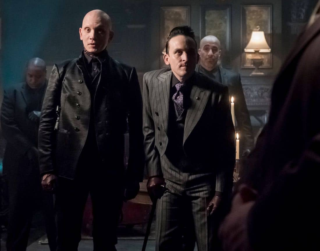 "GOTHAM: Robin Lord Taylor in the ""A Dark Knight: The Demon's Head"" episode of GOTHAM airing Thursday, Oct. 12 (8:00-9:01 PM ET/PT) on FOX. CR: Jeff Neumann/FOX"
