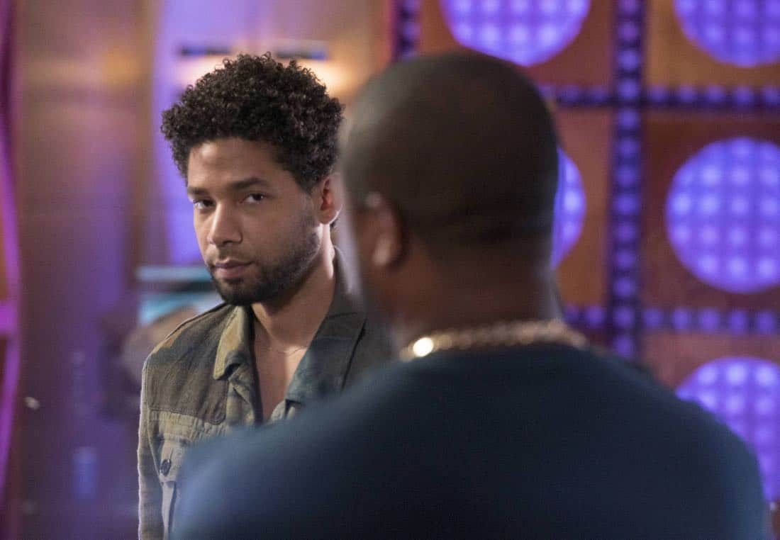 """EMPIRE: Pictured L-R:  Jussie Smollett and Xzibit in the """"Evil Manners"""" episode of EMPIRE airing Wednesday, Oct. 11 (8:00-9:00 PM ET/PT) on FOX. ©2017 Fox Broadcasting Co. CR: Jean Whiteside/FOX"""