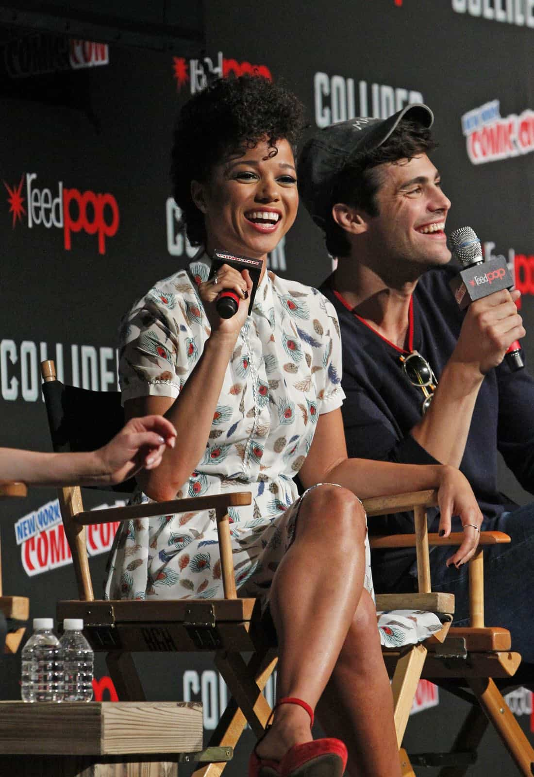 """NY COMIC-CON 2017 -SHADOWHUNTERS - Freeform's genre programming was out in full force at this year's New York Comic Con on Saturday, October 7th with executive producers and cast from the hit series """"Shadowhunters,"""" """"Beyond,"""" and new original series """"Siren."""" (Freeform/Lou Rocco) ALISHA WAINWRIGHT, MATTHEW DADDARIO"""