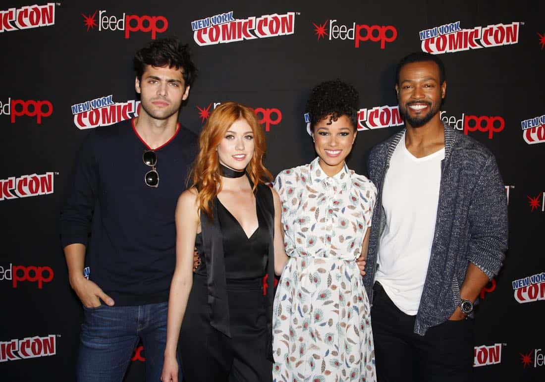 "NY COMIC-CON 2017 - Freeform's genre programming was out in full force at this year's New York Comic Con on Saturday, October 7th with executive producers and cast from the hit series ""Shadowhunters,"" ""Beyond,"" and new original series ""Siren.""  (ABC/Lou Rocco) MATTHEW DADDARIO, KATHERINE MCNAMARA, ALISHA WAINWRIGHT, ISAIAH MUSTAFA"