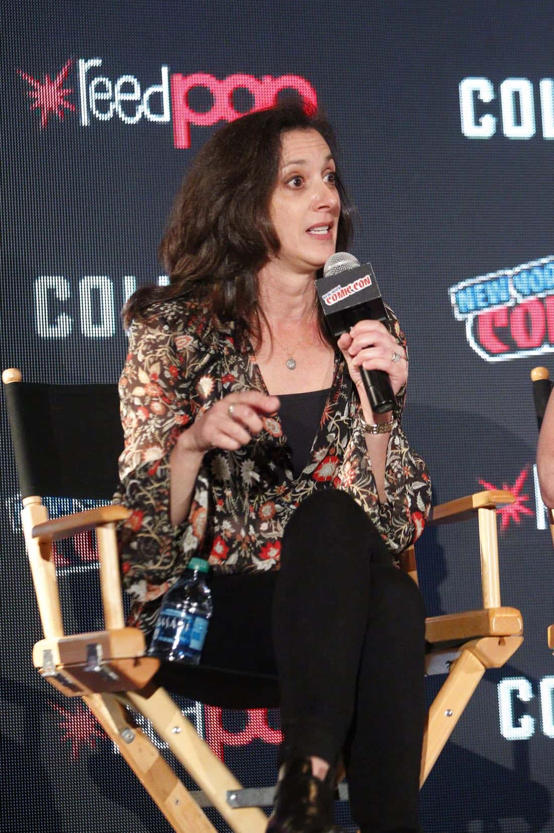"NY COMIC-CON 2017 - SIREN - Freeform's genre programming was out in full force at this year's New York Comic Con on Saturday, October 7th with executive producers and cast from the hit series ""Shadowhunters,"" ""Beyond,"" and new original series ""Siren."" (Freeform/Lou Rocco) EMILY WHITESELL (EXECUTIVE PRODUCER)"
