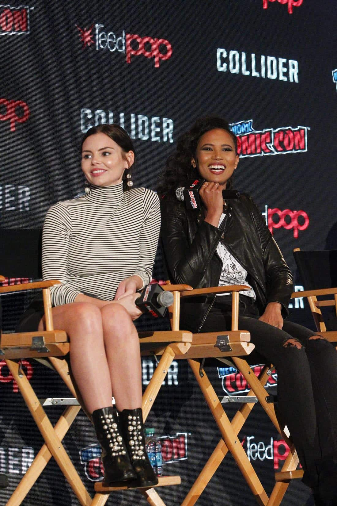 "NY COMIC-CON 2017 - SIREN - Freeform's genre programming was out in full force at this year's New York Comic Con on Saturday, October 7th with executive producers and cast from the hit series ""Shadowhunters,"" ""Beyond,"" and new original series ""Siren.""  (Freeform/Lou Rocco) ELINE POWELL, FOLA EVANS-AKINGBOLA"