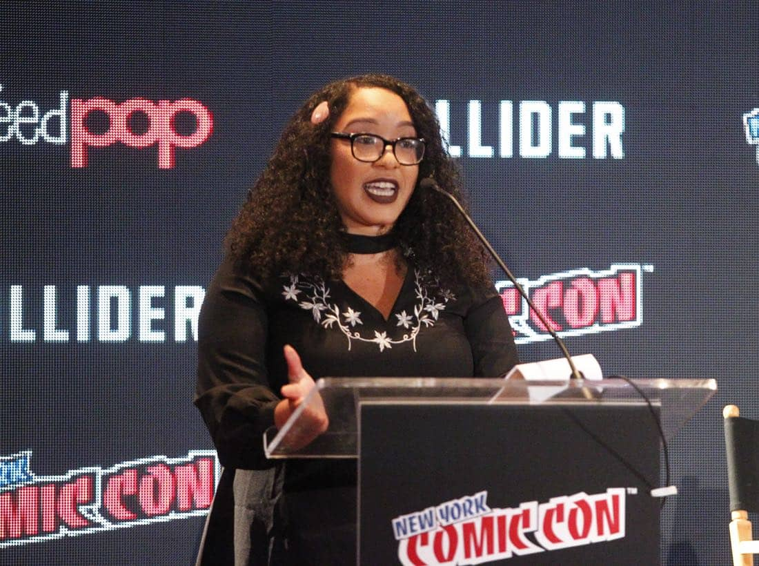 "NY COMIC-CON 2017 - SIREN - Freeform's genre programming was out in full force at this year's New York Comic Con on Saturday, October 7th with executive producers and cast from the hit series ""Shadowhunters,"" ""Beyond,"" and new original series ""Siren."" (Freeform/Lou Rocco) ARIANA ROMERO"