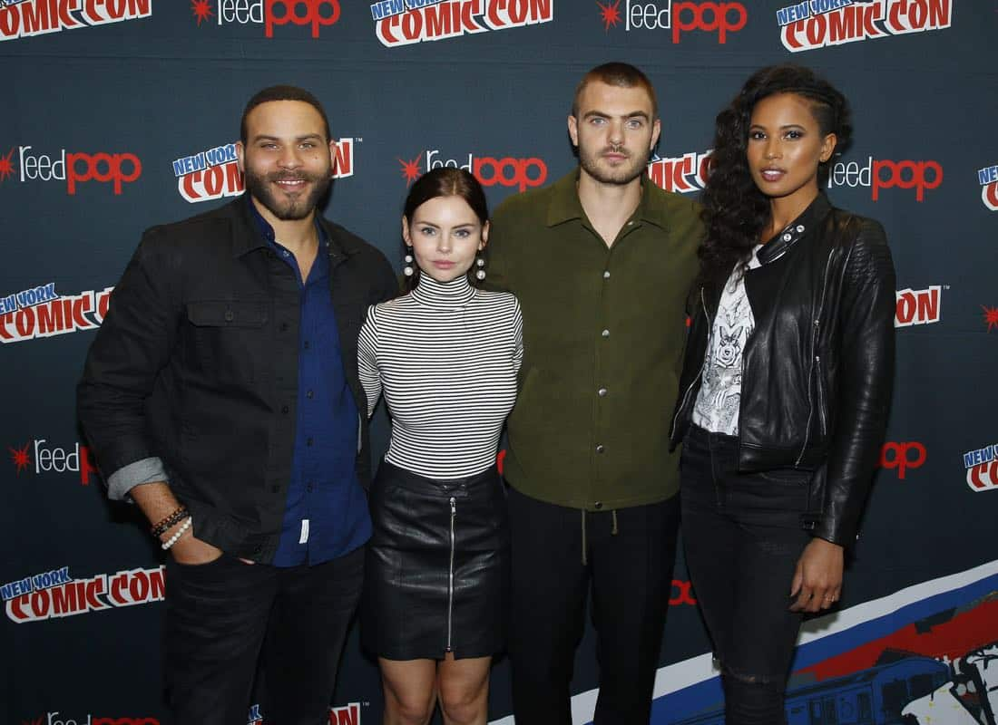 "NY COMIC-CON 2017 - SIREN - Freeform's genre programming was out in full force at this year's New York Comic Con on Saturday, October 7th with executive producers and cast from the hit series ""Shadowhunters,"" ""Beyond,"" and new original series ""Siren."" (Freeform/Lou Rocco) IAN VERDUN, ELINE POWELL, ALEX ROE, FOLA EVANS-AKINGBOLA"