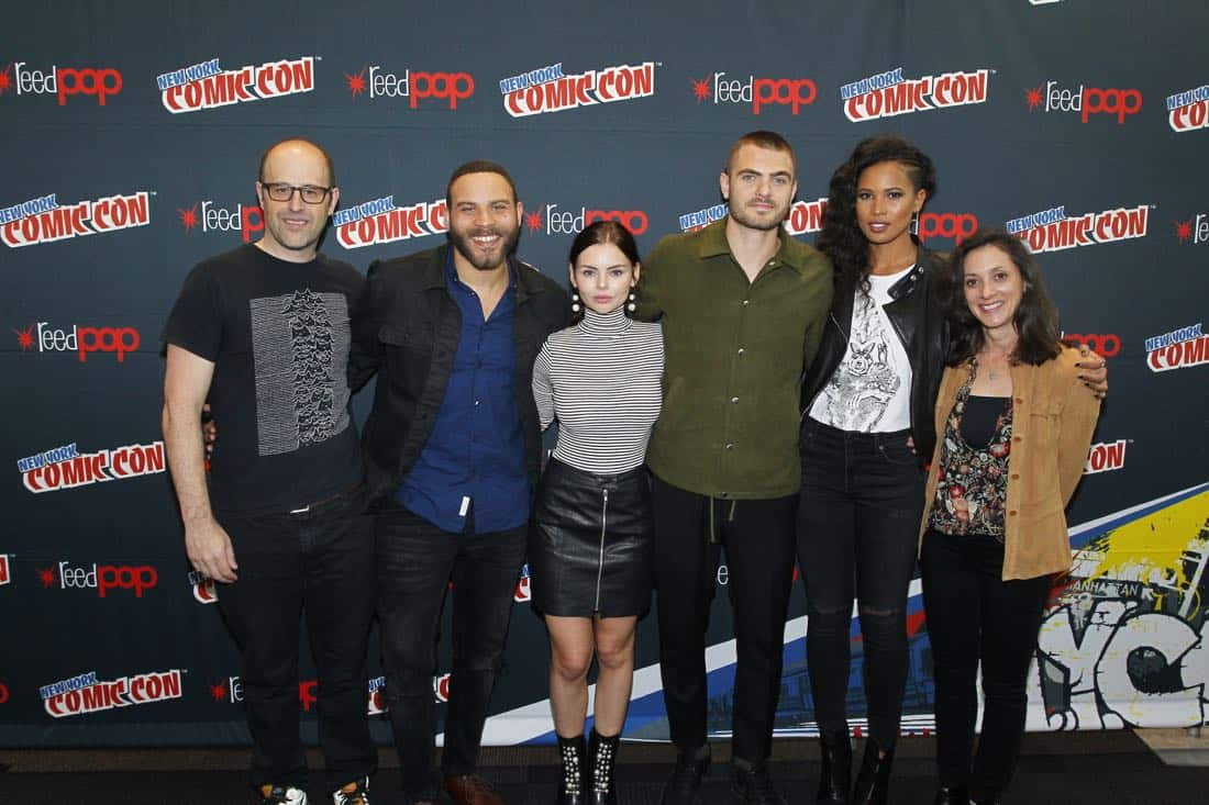 "NY COMIC-CON 2017 - SIREN - Freeform's genre programming was out in full force at this year's New York Comic Con on Saturday, October 7th with executive producers and cast from the hit series ""Shadowhunters,"" ""Beyond,"" and new original series ""Siren."" (Freeform/Lou Rocco) ERIC WALD (EXECUTIVE PRODUCER), IAN VERDUN, ELINE POWELL, ALEX ROE, FOLA EVANS-AKINGBOLA, EMILY WHITESELL (EXECUTIVE PRODUCER)"