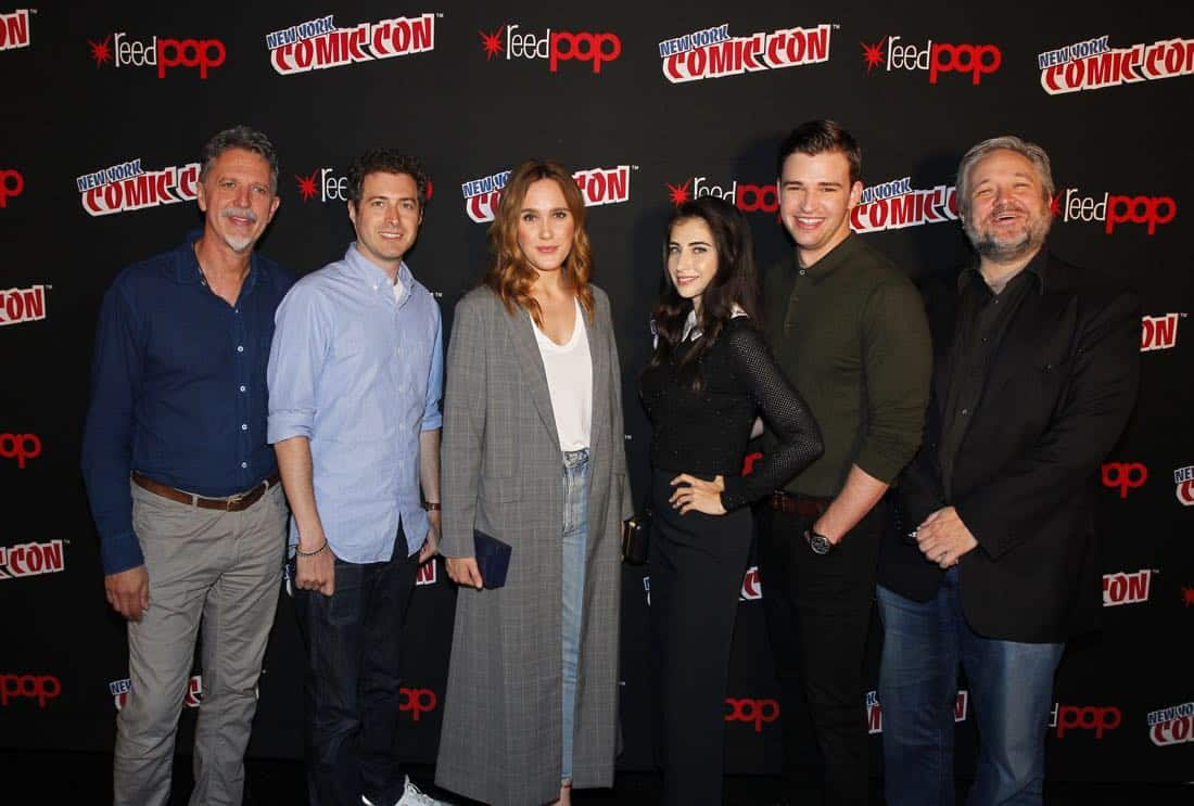 "NY COMIC-CON 2017 - Freeform's genre programming was out in full force at this year's New York Comic Con on Saturday, October 7th with executive producers and cast from the hit series ""Shadowhunters,"" ""Beyond,"" and new original series ""Siren."" (ABC/Lou Rocco) TIM KRING (EXECUTIVE PRODUCER, BEYOND), ADAM NUSSDORF (EXECUTIVE PRODUCER, BEYOND), EDEN BROLIN, DILAN GWYN, BURLEY DUFFIELD, DAVID EICK (EXECUTIVE PRODUCER, BEYOND)"