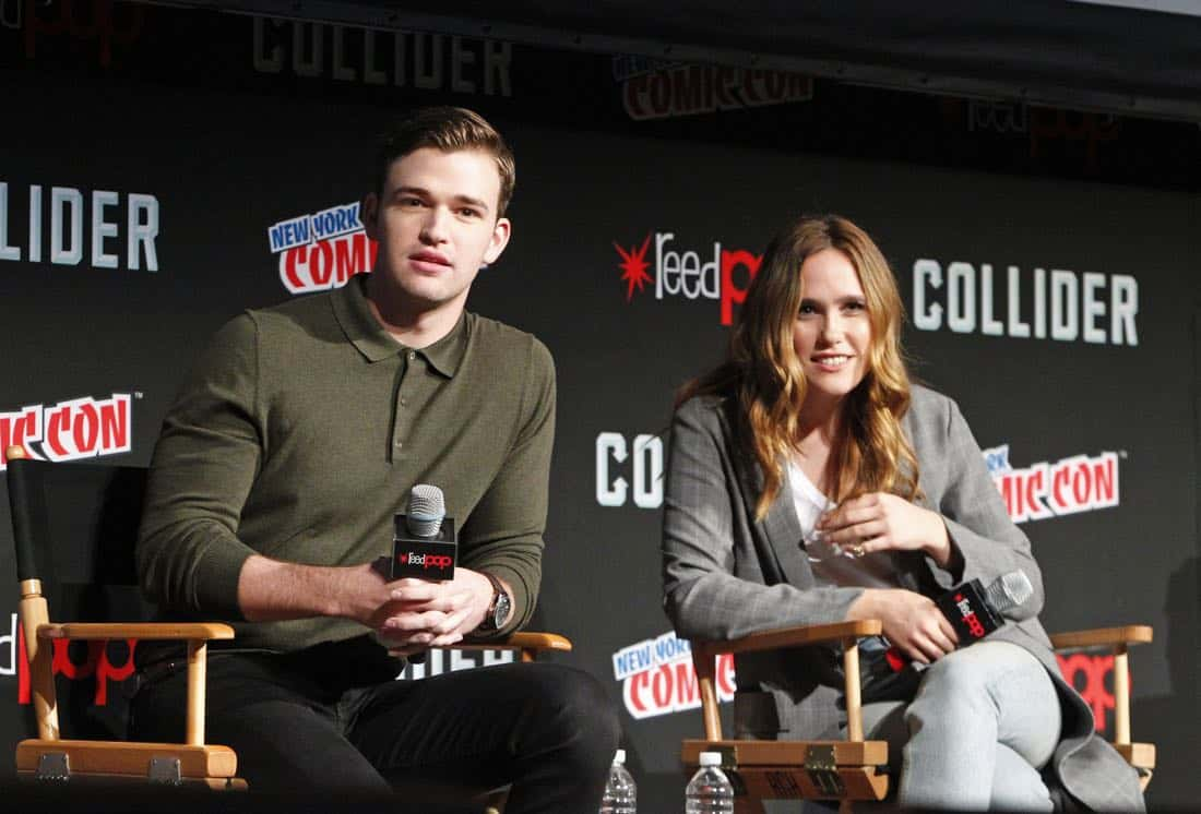"NY COMIC-CON - BEYOND - Freeform's genre programming was out in full force at this year's New York Comic Con on Saturday, October 7th with executive producers and cast from the hit series ""Shadowhunters,"" ""Beyond,"" and new original series ""Siren.""  (Freeform/Lou Rocco) BURKELYDUFFIELD, EDEN BROLIN"