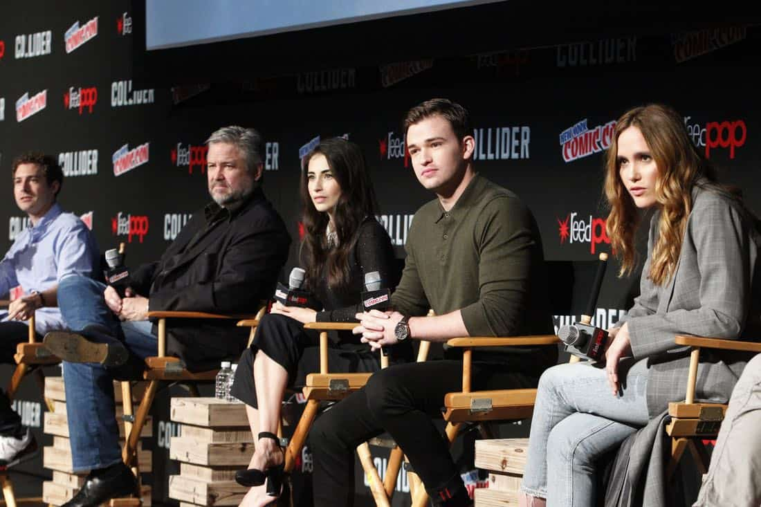 "NY COMIC-CON - BEYOND - Freeform's genre programming was out in full force at this year's New York Comic Con on Saturday, October 7th with executive producers and cast from the hit series ""Shadowhunters,"" ""Beyond,"" and new original series ""Siren."" (Freeform/Lou Rocco) ADAM NUSSDORF (EXECUTIVE PRODUCER), DAVID EICK (EXECUTIVE PRODUCER), DILAN GWYN, BURKELYDUFFIELD, EDEN BROLIN"
