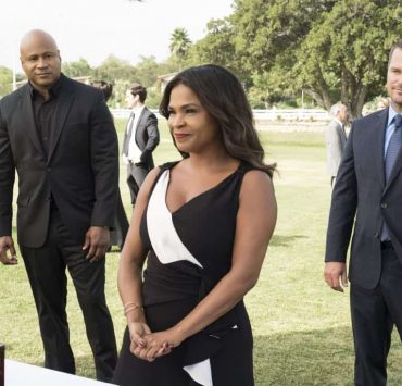 """Plain Sight"" - Pictured: LL COOL J (Special Agent Sam Hanna), Nia Long (Executive Assistant Director Shay Mosley), and Chris O'Donnell (Special Agent G. Callen). After weapons with a $1 million street value are stolen, the team tracks the evidence to a wealthy charity event, prompting Mosley to be added to the guest list with Callen and Sam as her security detail, on NCIS: LOS ANGELES, Sunday, Oct. 22 (9:30-10:30 PM, ET/9:00-10:00 PM, PT) on the CBS Television Network. Photo: Jessica Brooks/CBS ©2017 CBS Broadcasting, Inc. All Rights Reserved"