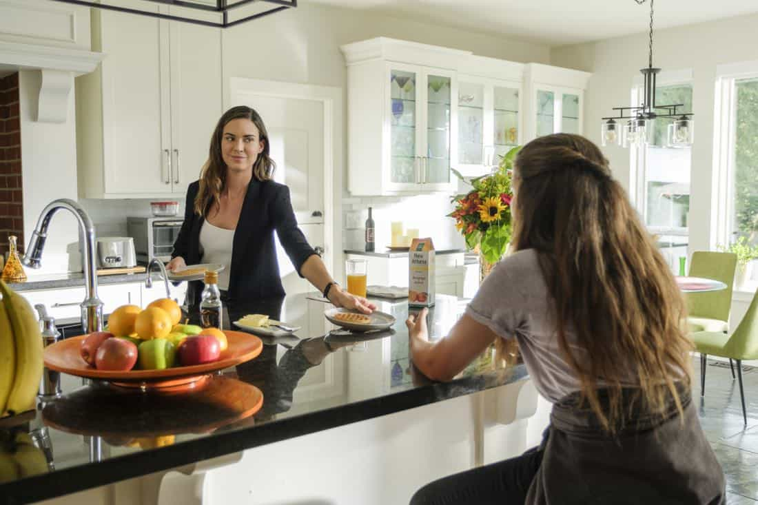 """Supergirl -- """"Triggers"""" -- SPG302a_0052.jpg -- Pictured (L-R): Odette Anabele as Samantha and Emma Tremblay as Ruby -- Photo: Robert Falconer/The CW -- © 2017 The CW Network, LLC. All Rights Reserved"""