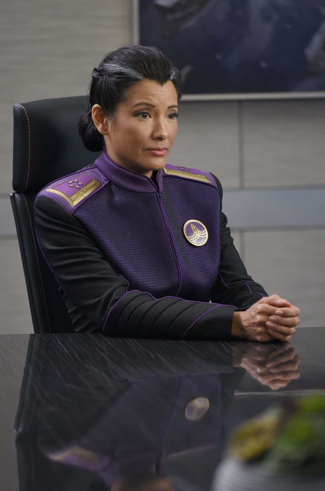 "THE ORVILLE: Guest star Kelly Hu in the ""Krill"" episode of THE ORVILLE airing Thursday, Oct. 12 (9:01-10:00 PM ET/PT) on FOX. ©2017 Fox Broadcasting Co. Cr: Michael Becker/FOX"