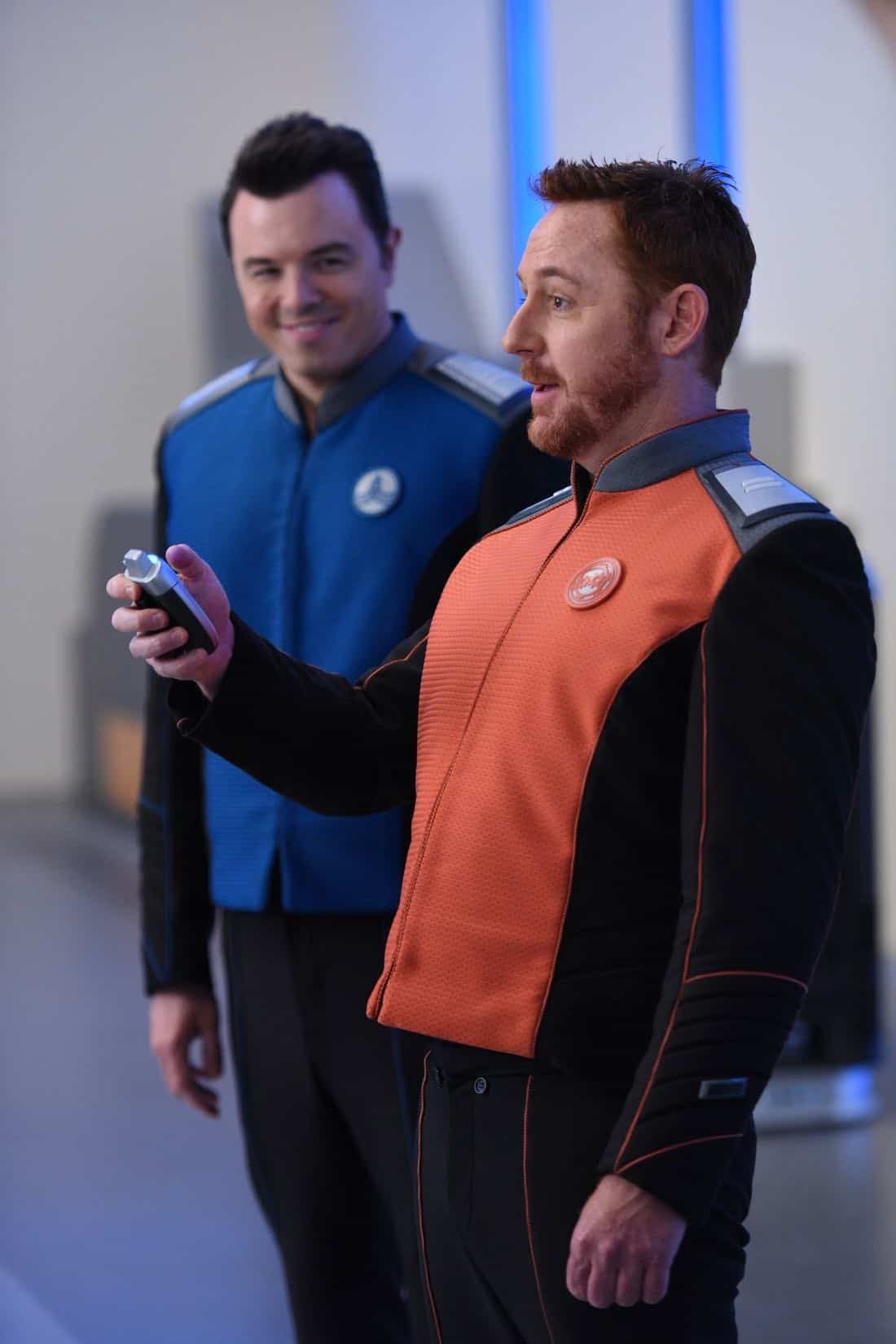 "THE ORVILLE: L-R: Seth MacFarlane and Scott Grimes in the ""Krill"" episode of THE ORVILLE airing Thursday, Oct. 12 (9:01-10:00 PM ET/PT) on FOX. ©2017 Fox Broadcasting Co. Cr: Michael Becker/FOX"