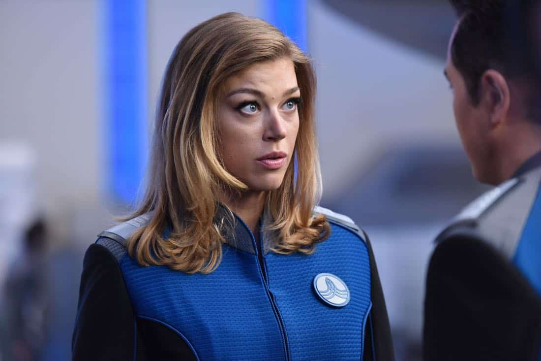 "THE ORVILLE: Adrianne Palicki in the ""Krill"" episode of THE ORVILLE airing Thursday, Oct. 12 (9:01-10:00 PM ET/PT) on FOX. ©2017 Fox Broadcasting Co. Cr: Michael Becker/FOX"