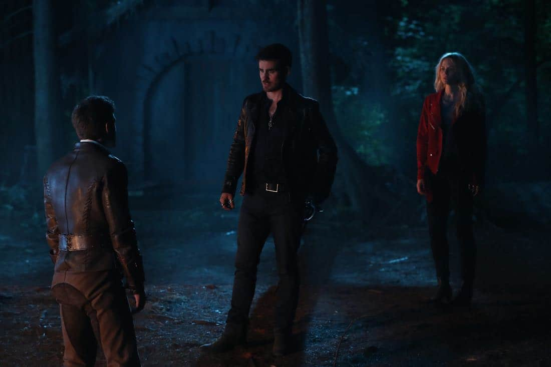 "ONCE UPON A TIME - ""A Pirate's Life"" - When Henry finds himself in trouble, he calls upon his Storybrooke family for help, and together they set off on a mission to find Cinderella. Along the way, Hook is confronted by an unexpected foe who threatens the group's success. In Hyperion Heights, Jacinda searches for a way to see Lucy with some unwelcome assistance from Henry, while Victoria Belfrey enlists the help of Gold and Weaver to push Henry out of the neighborhood, on ""Once Upon a Time,"" FRIDAY, OCTOBER 13 (8:00-9:01 p.m. EDT), on The ABC Television Network. (ABC/Jack Rowand) ANDREW J. WEST, COLIN O'DONOGHUE, JENNIFER MORRISON"