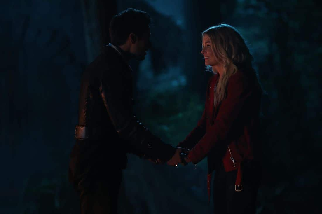 "ONCE UPON A TIME - ""A Pirate's Life"" - When Henry finds himself in trouble, he calls upon his Storybrooke family for help, and together they set off on a mission to find Cinderella. Along the way, Hook is confronted by an unexpected foe who threatens the group's success. In Hyperion Heights, Jacinda searches for a way to see Lucy with some unwelcome assistance from Henry, while Victoria Belfrey enlists the help of Gold and Weaver to push Henry out of the neighborhood, on ""Once Upon a Time,"" FRIDAY, OCTOBER 13 (8:00-9:01 p.m. EDT), on The ABC Television Network. (ABC/Jack Rowand) ANDREW J. WEST, JENNIFER MORRISON"