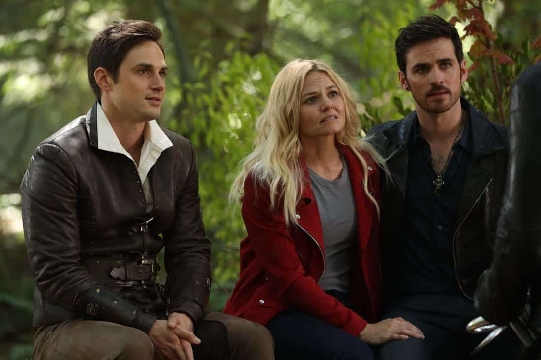 "ONCE UPON A TIME - ""A Pirate's Life"" - When Henry finds himself in trouble, he calls upon his Storybrooke family for help, and together they set off on a mission to find Cinderella. Along the way, Hook is confronted by an unexpected foe who threatens the group's success. In Hyperion Heights, Jacinda searches for a way to see Lucy with some unwelcome assistance from Henry, while Victoria Belfrey enlists the help of Gold and Weaver to push Henry out of the neighborhood, on ""Once Upon a Time,"" FRIDAY, OCTOBER 13 (8:00-9:01 p.m. EDT), on The ABC Television Network. (ABC/Jack Rowand) ANDREW J. WEST, JENNIFER MORISSON, COLIN O'DONOGHUE"