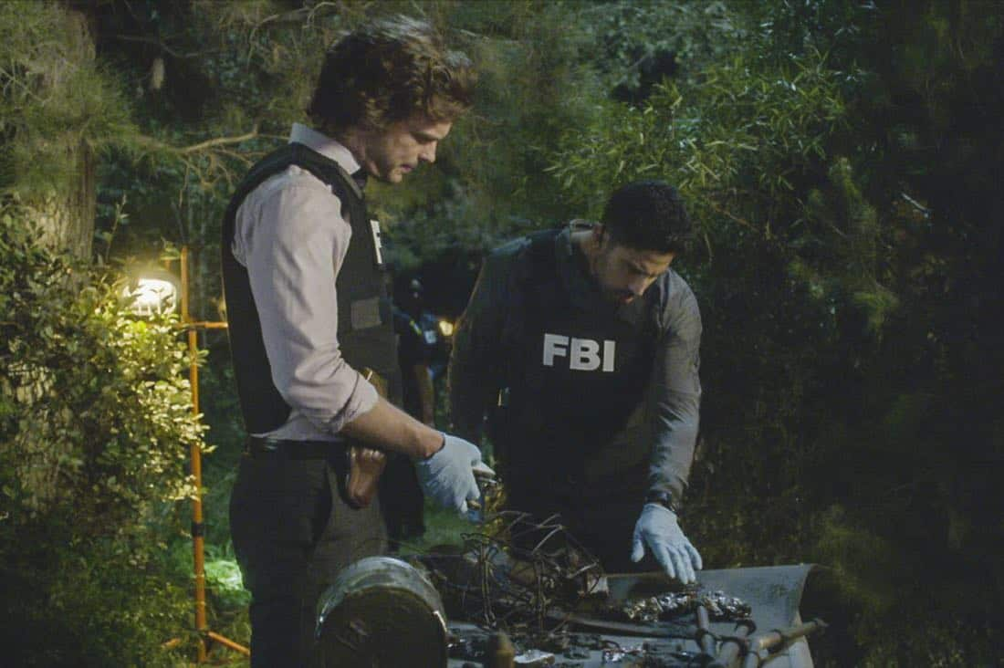 """Blue Angel"" -- When successful businessmen in Detroit are targeted by an anger-driven power-assertive Unsub, the BAU is called in to investigate, on CRIMINAL MINDS, Wednesday, Oct. 11 (10:00-11:00 PM, ET/PT) on the CBS Television Network.  Pictured: Matthew Gray Gubler (Dr. Spencer Reid), Adam Rodriguez (Luke Alvez)   Photo: Best Screen Grab Available ©2017 CBS Broadcasting, Inc. All Rights Reserved"