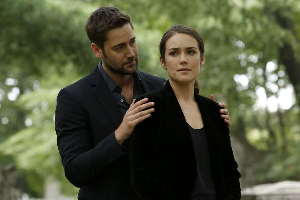 "THE BLACKLIST -- ""Ilyas Surkov (#54)"" Episode 505 -- Pictured: (l-r) Ryan Eggold as Tom Keen, Megan Boone as Elizabeth Keen -- (Photo by: Will Hart/NBC)"