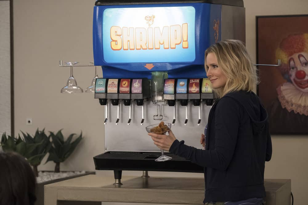 "THE GOOD PLACE -- ""The Trolley Problem"" Episode 206 -- Pictured: Kristen Bell as Eleanor -- (Photo by: Colleen Hayes/NBC)"