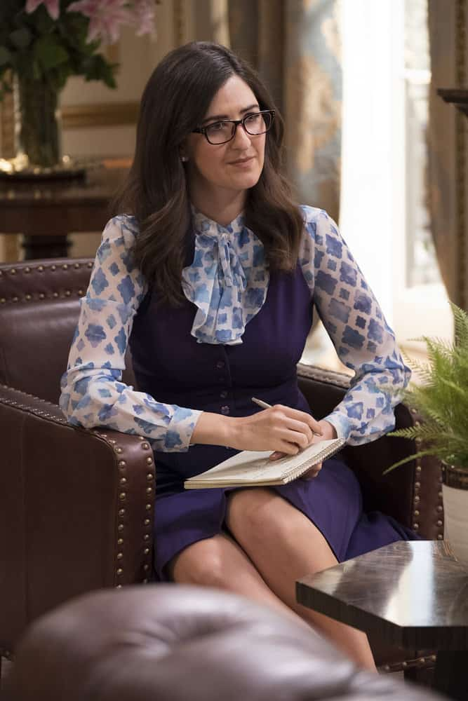 "THE GOOD PLACE -- ""The Trolley Problem"" Episode 206 -- Pictured: D'Arcy Carden as Janet -- (Photo by: Colleen Hayes/NBC)"