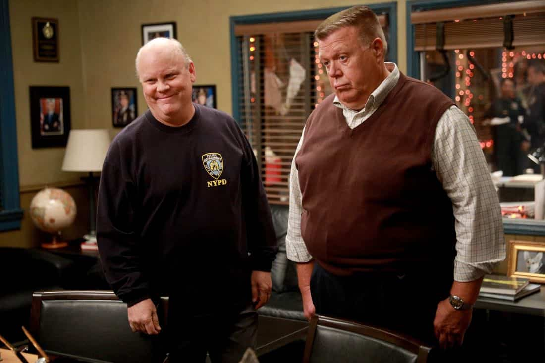 "BROOKLYN NINE-NINE: L-R: Dirk Blocker and Joel McKinnon Miller in the ""HalloVeen"" episode of BROOKLYN NINE-NINE airing Tuesday, Oct. 17 (9:30-10:00 PM ET/PT) on FOX. CR: JORDIN ALTHAUS/FOX"
