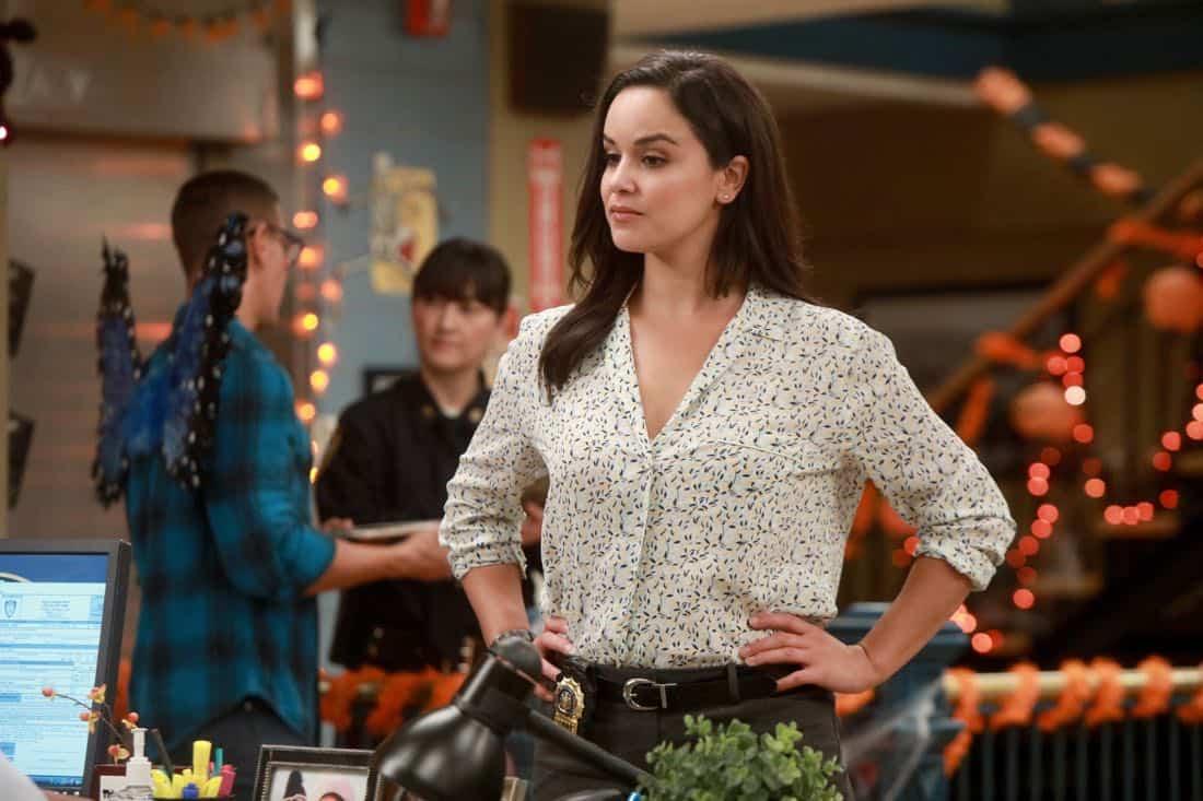 "BROOKLYN NINE-NINE: Melissa Fumero in the ""HalloVeen"" episode of BROOKLYN NINE-NINE airing Tuesday, Oct. 17 (9:30-10:00 PM ET/PT) on FOX. CR: JORDIN ALTHAUS/FOX"