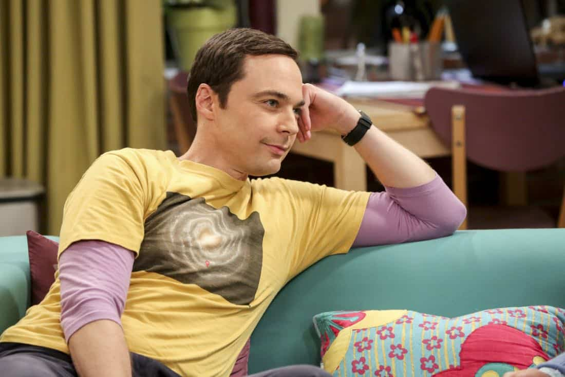 """The Collaboration Contamination"" -- Pictured: Sheldon Cooper (Jim Parsons). Sheldon and Koothrappali confide in Bernadette when they can't handle Amy and Wolowitz working together. Also, Penny and Leonard learn new tactics for how to deal Sheldon from an unlikely source, on THE BIG BANG THEORY, Monday, Oct. 23 (8:00-8:31 PM, ET/PT) on the CBS Television Network. Photo: Michael Yarish/Warner Bros. Entertainment Inc. © 2017 WBEI. All rights reserved."