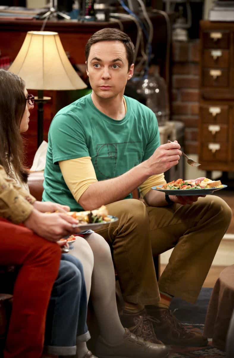 """""""The Collaboration Contamination"""" -- Pictured: Sheldon Cooper (Jim Parsons). Sheldon and Koothrappali confide in Bernadette when they can't handle Amy and Wolowitz working together. Also, Penny and Leonard learn new tactics for how to deal Sheldon from an unlikely source, on THE BIG BANG THEORY, Monday, Oct. 23 (8:00-8:31 PM, ET/PT) on the CBS Television Network. Photo: Michael Yarish/Warner Bros. Entertainment Inc. © 2017 WBEI. All rights reserved."""