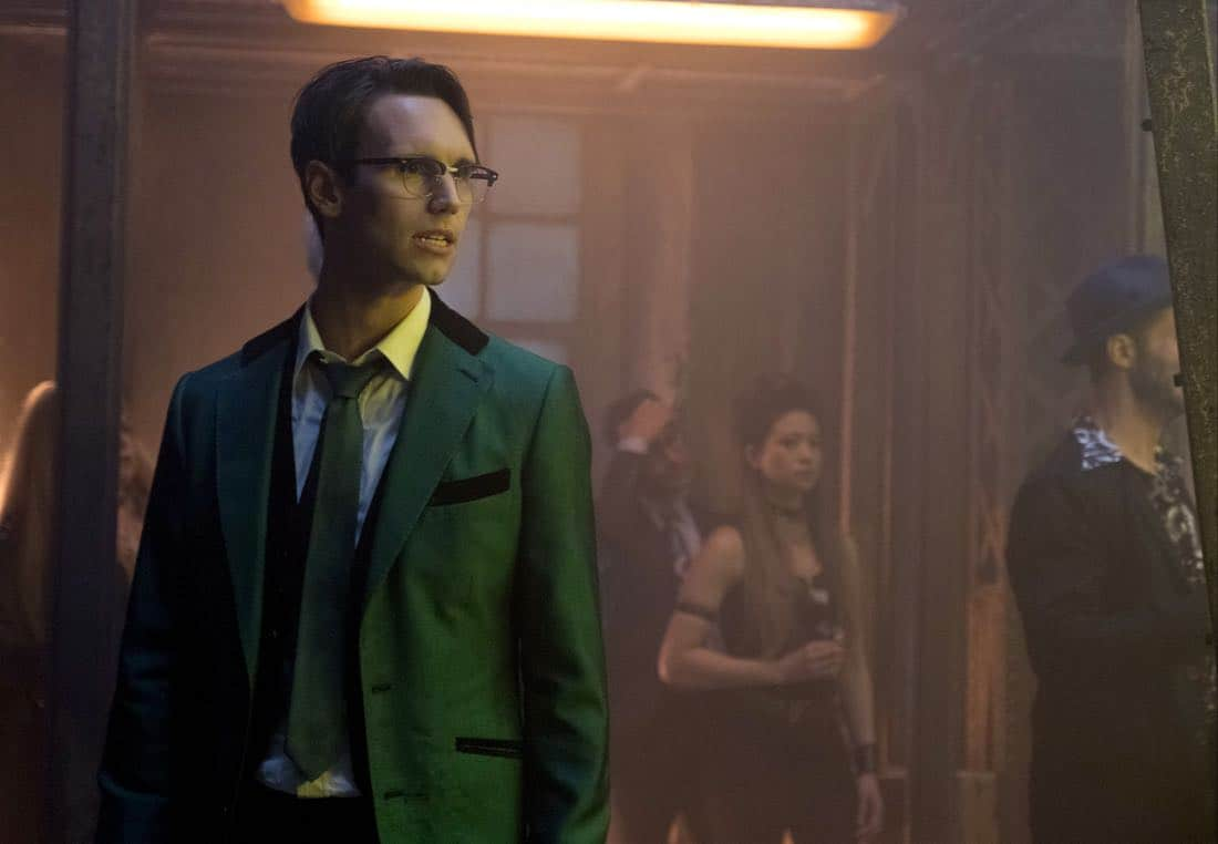 "GOTHAM: Cory Michael Smith in the ""A Dark Knight: The Blade's Path"" episode of GOTHAM airing Thursday, Oct. 19 (8:00-9:01 PM ET/PT) on FOX.  CR:  Jessica Miglio/FOX"